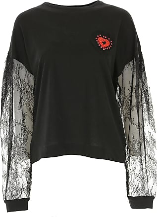 venta negro en 2017 12 mujer camiseta Pinko para algodón qwXtI6x