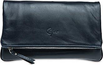 Farbe Aus Clutch Abendtasche dunkelblau;größe Leder Fashion Tasche Damen Feinem Nappaleder Size Caspar Tl763 one 0HwpavqW