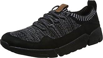 Leather44 Eu Schwarzblack Sneaker Herren Knit Triactive Clarks 5 BrtsdhQxoC
