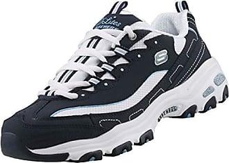 the latest ab9e3 ae835 White 39 Fan Biggest zapato euros Blue Zapatillas Skechers D lites mujer  para talla del wRpqp0f