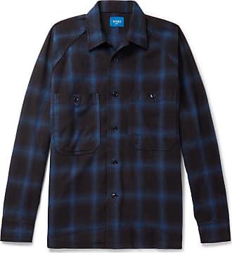 Cotton flannel Shirt Blue Checked Beams 6qEBf65w