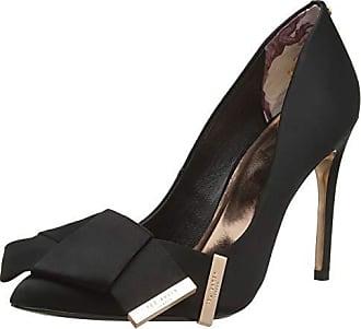 Con 41 Negro Cerrada Mujer Blk black Para De Zapatos Punta Ted Tacón Eu Ines Baker qFZTXT