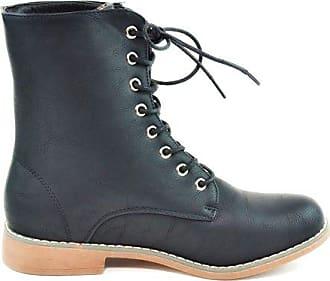 B85 Of Ankle Stiefeletten Schwarz Halbschaft Schnürboots Nieten 39 Outdoor Stiefel Damen Blockabsatz Bequeme Knöchelhohe Worker King Shoes 1qRz6xwx