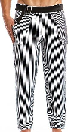 Vivendi Blanc Noir Animal Modus Pantalon Rayé RWdf8pxwzq