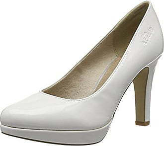123 white oliver Escarpins Femme Patent Eu Blanc 22410 40 S x0XqO77