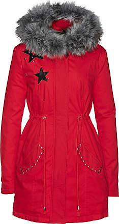 Pour Parka Femme Avec Rouge Manches Fourrure Synthétique Longues Bonprix Imitation Pqa4Rf4w