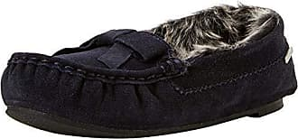 Isotoner Moccasin Slippers Real Blue Nav Femme 38 Suede Eu Bas navy Chaussons qC61wqxH