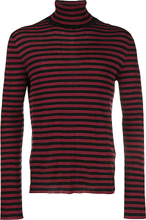 Neck Striped Rouge Jumper Laurent Turtle Saint UFBqF