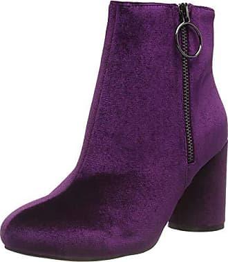 524 Femme Ankle 37 Round Eu Bottines Bianco Violet purple Boot Heel q7ABWwxFO