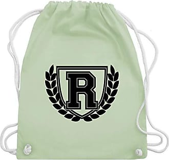 Gym amp; R Wm110 Turnbeutel Bag Anfangsbuchstaben Grün Pastell Collegestyle Unisize Shirtracer Hxfawqq4