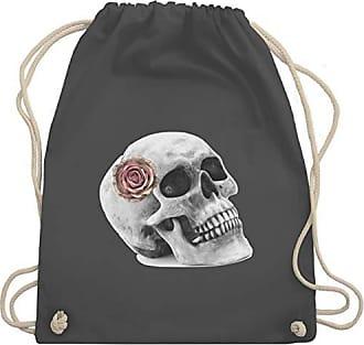 Rockabilly Totenkopf Dunkelgrau Shirtracer Vintage Rose Wm110 Turnbeutel amp; Bag Gym Unisize Skull aCTq7xqwd