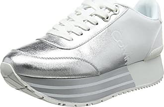 Klein Sneakers Eu Femme Jeans Basses svw Calvin 000 Metal Canvas flocking 39 Carlita Argent dWqZxxnaYB