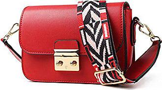 Red Handtasche Umhängetasche Mini Leder Sommer Tasche farbe Schulter Rose Frau aAPxz