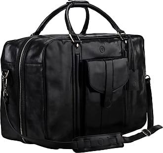 Sporttasche Weekender Leder Reisekoffer Schwarz In Italienischer Reisetasche Handgepäck Maxwell Scott 4nYqw87xAA