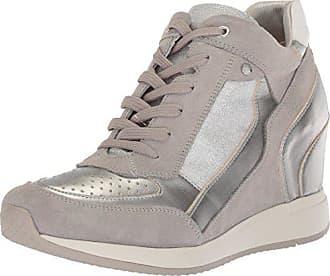 D Hautes silver38 Eu FemmeArgentlt Geox ABaskets Grey Nydame Ybfgy76