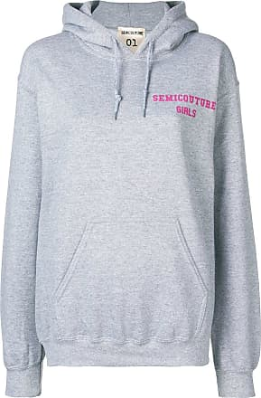Semicouture Poitrine Gris Logo À Sweat rn68rXZ