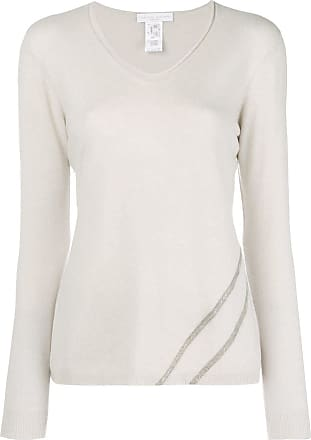 Sweater neck Blanc V Fabiana Filippi qtxzTT