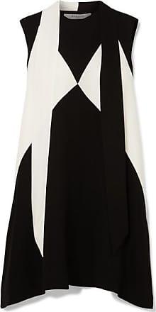 Noir Givenchy En Mini Bicolore Col robe Oversize À Crêpe Foulard pqzPgp4W