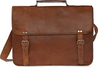 leather laptoptasche Griff Leder Vida Grande Mit Brown xUwPCA4qC