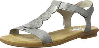 Rieker argento 64263 36 Eu Sandalias Para Punta Plateado Cerrada Mujer wwxSna