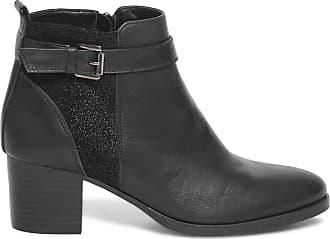 Paillettes Noir Boots Éram Cuir À nUnIg