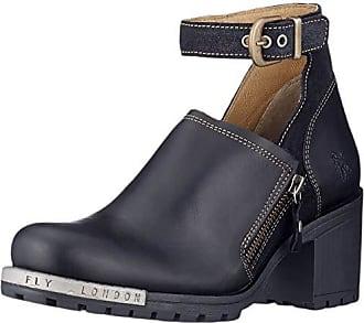 Tacon Con De black 40 Lepu306fly Zapatos Mujer Tobillo Para Fly Negro Eu Y London 006 Correa anthracite BIUHww