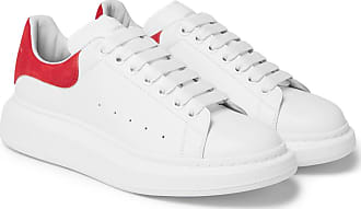 sole Mcqueen White Alexander Exaggerated Leather Sneakers SqRxwERfd