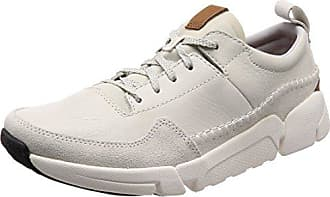 Leather Eu Blanc white Sneakers 46 Homme Run Clarks Basses Triactive YxBWv