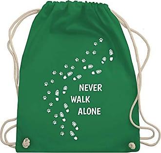 Alone Gym Shirtracer Unisize Hunde Turnbeutel Walk amp; Grün Bag Wm110 Pfotenabdrücke Never q7qgt1v