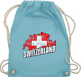 Shirtracer europameisterschaft 2020 Wm110 Gym Umriss Fußball Vintage Turnbeutel Hellblau Unisize Bag amp; Switzerland ZZ6xAqw5r