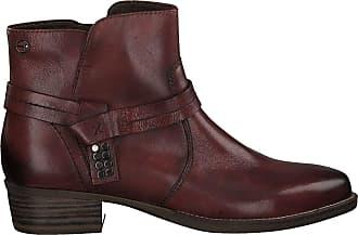 Bordeaux Tamaris Marly Cuir Rouge Boots wfZZIqFz