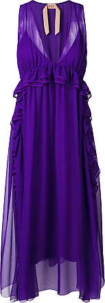 N°21 Midi Sleeveless Flared Violet Dress xpfqzC
