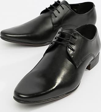 Noir Chaussures Derby En Asos Cuir gXOfwxg8