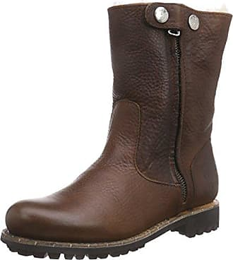 Gl54 36 Fur Eu Biker Zipperboot Boots Yellow Braun old High Damen Blackstone qOnBFBx