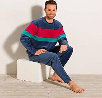 Manches Longues Blancheporte Tricolore Pyjama Velours Oxt48q7