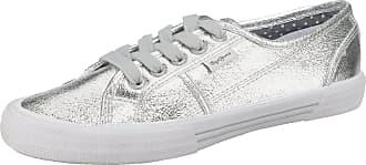 Jeans Sneakers Pepe London Low Silber Silberfarben HOYwqE