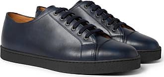 John Levah Navy Sneakers Leather Cap Lobb toe TTnZxPW