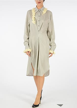 Size Loewe Silk Dress Striped Shirt 40 qIRxU