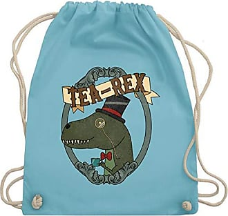 Shirts Shirtracer Hellblau amp; Tea Gym Unisize Bag Wm110 Comic Turnbeutel Rahmen rex O7n1p
