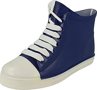 Boot Dunkelblau Style Gummistiefel F4357 Baseball Weiß Ankle On Größe 37 Spot Damen XwqTZa6Zx