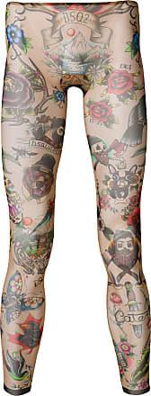 À Tatouage Legging Imprimé Tons Dsquared2 Neutres Façon A1Rw55q