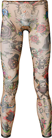 Dsquared2 Tatouage Tons Neutres À Imprimé Legging Façon qxPTqAr