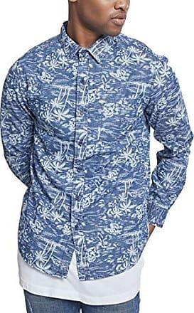 Classics Jeanshemd Herren Printed Palm Shirt Urban Denim dwq48d7