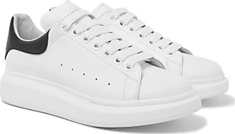 Alexander Leather Exaggerated Sneakers sole Mcqueen White qqOx68t