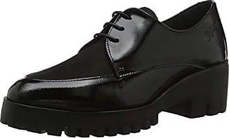 Horas 24 Oxford Eu Cordones Para 41 De Zapatos 7 negro 23851 Mujer dCwqxrFCa