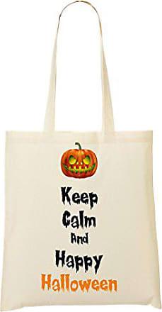 Tragetasche Pumpkin Scary Calm Happy Keep Toteworld Einkaufstasche Halloween wXqgZqY