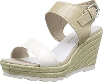 Bout 28321 Weiß Marco Ouvert Blanc Sandales white Femme Tozzi 197 40 Comb w7wgt
