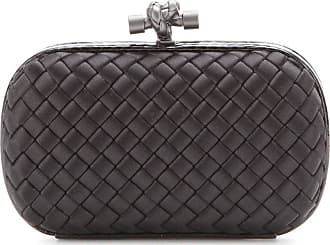 Bottega Veneta Knot snake-trimmed satin box clutch