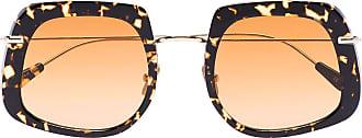 Kaleos Óculos de sol quadrado Brown Barton Havana - Preto
