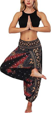 Hellomiko Huateng Womens Casual Harem Trousers Baggy Pants Boho Leggings Summer Wide Leg Trousers Beach Pants Loose Fit Hippy Trousers Yoga Pants Aladdin Bloome